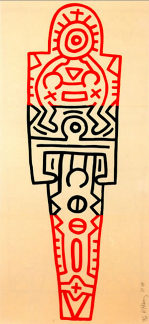 keith haring, pop art, icons, Totem by Keith Haring