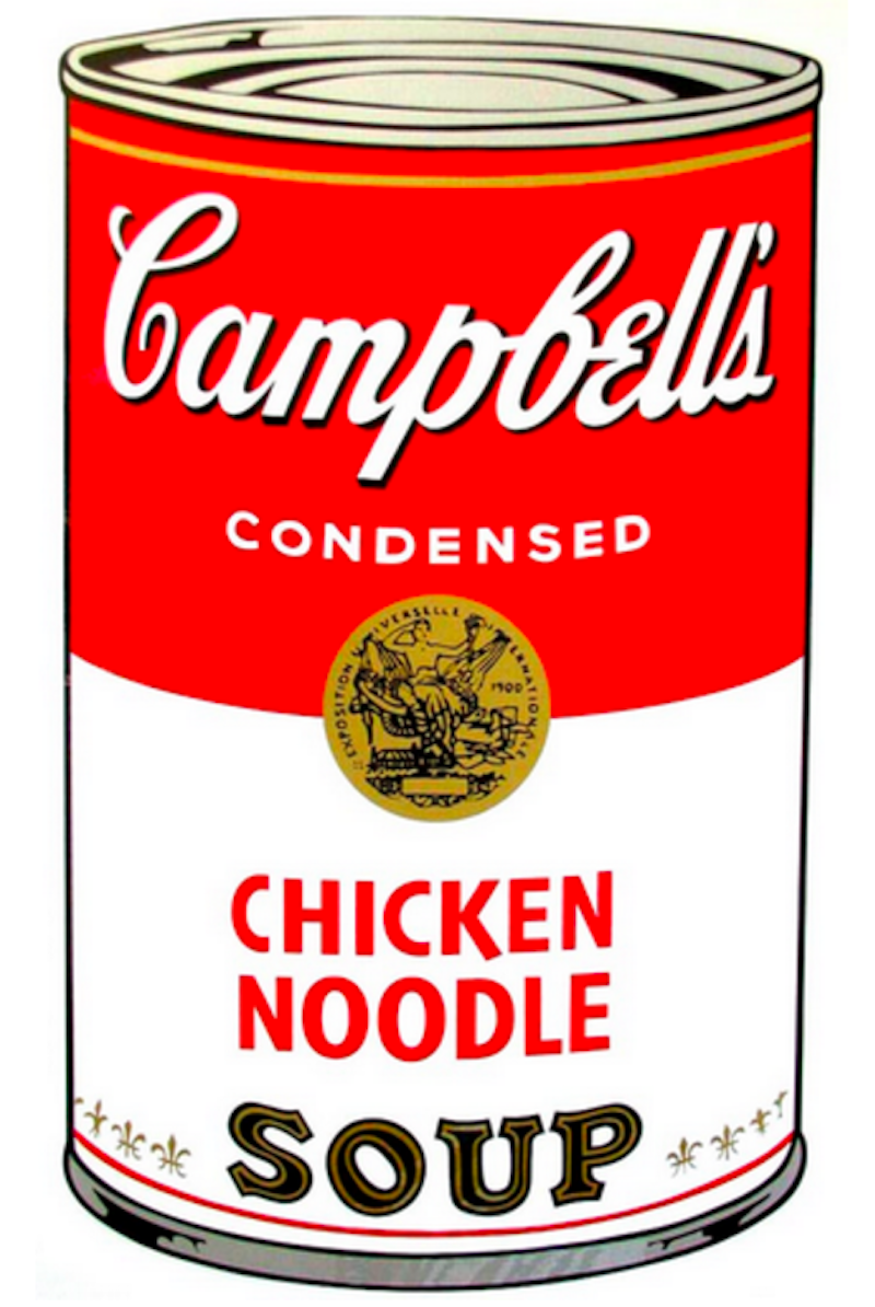 Campbells Chicken Noodle Soup Can by Andy Warhol