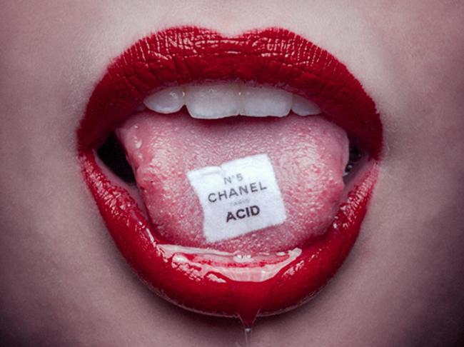 Tyler Shields, Photography, lips, chanel acid, shields