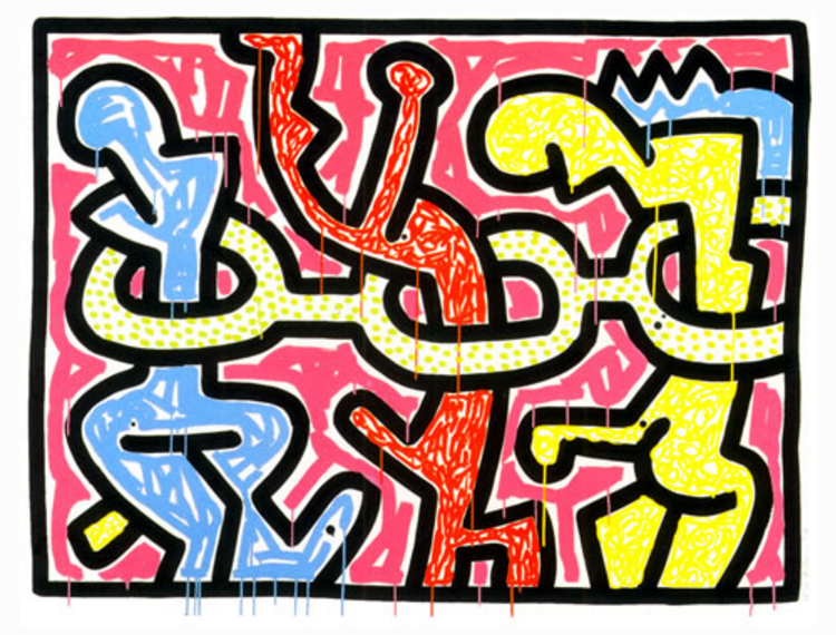 Flowers II by Keith Haring