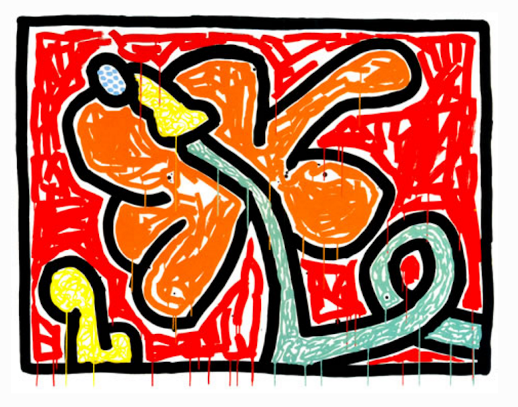 Flowers V By Keith Haring Guy Hepner