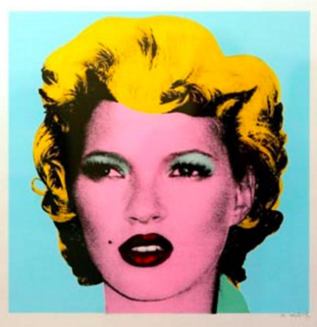 Blue, Kate Moss, Banksy
