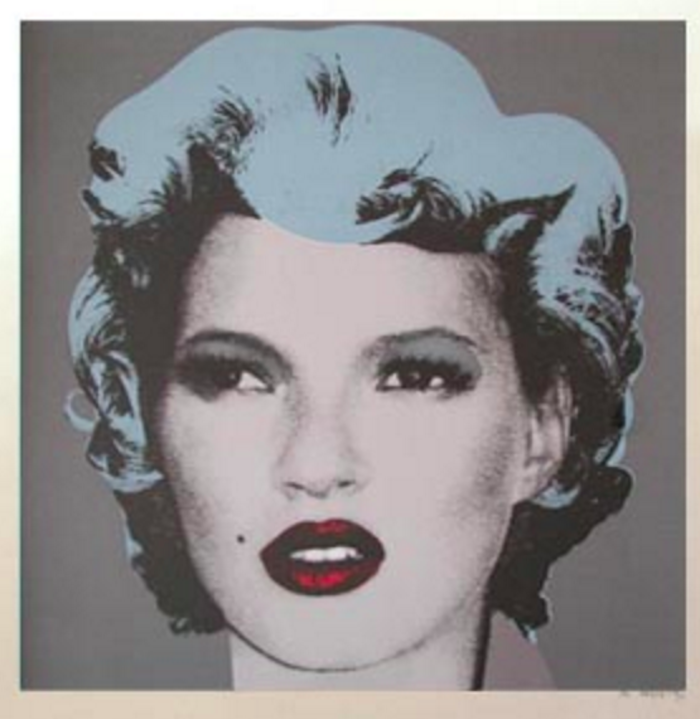 Grey Kate Moss by Banksy