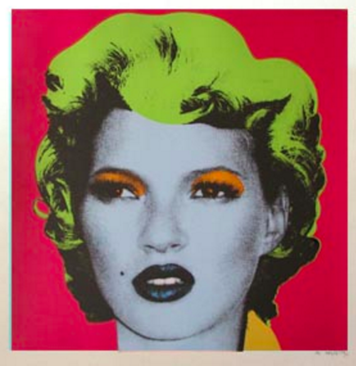 Red Kate Moss by Banksy