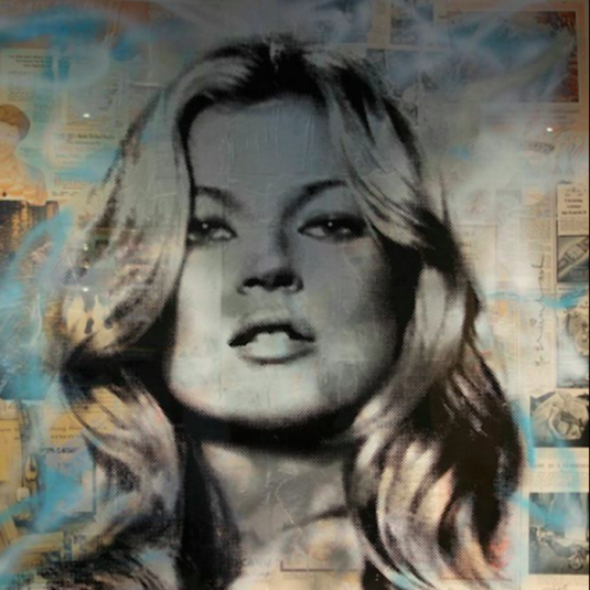 popular, mr. brainwash, kate moss, print