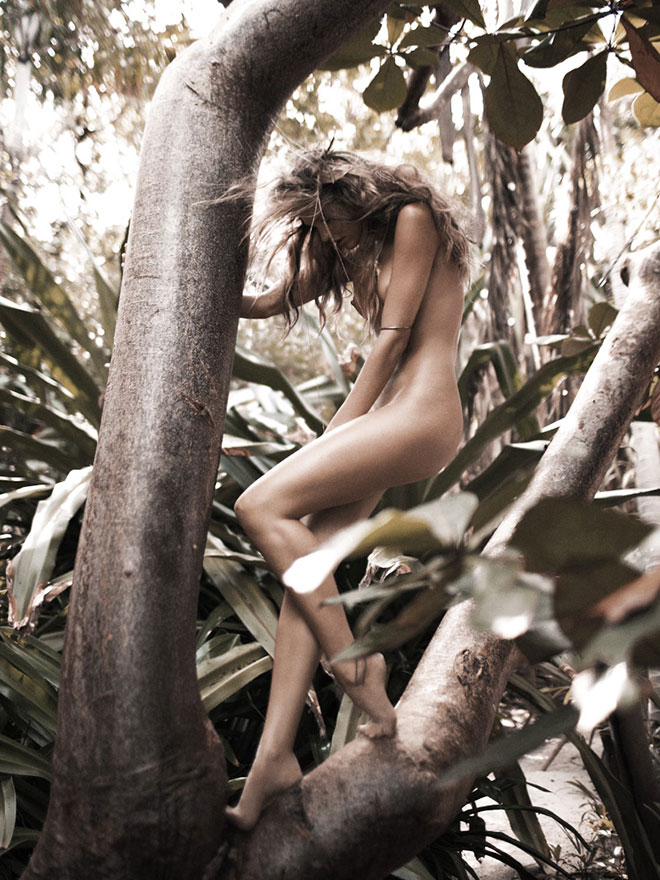 Candice In Tree by Russell James
