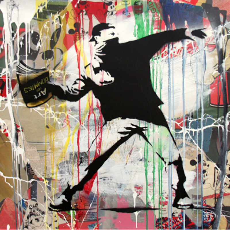 Banksy Flower Thrower by Mr. Brainwash