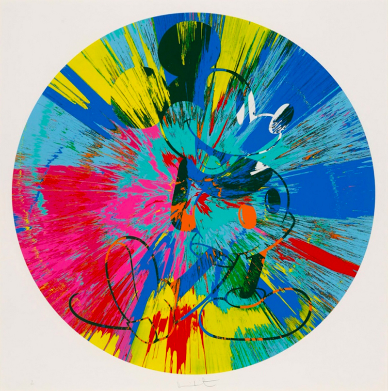 Beautiful Mickey by Damien Hirst