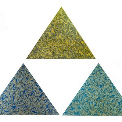 Pyramid Set by Keith Haring