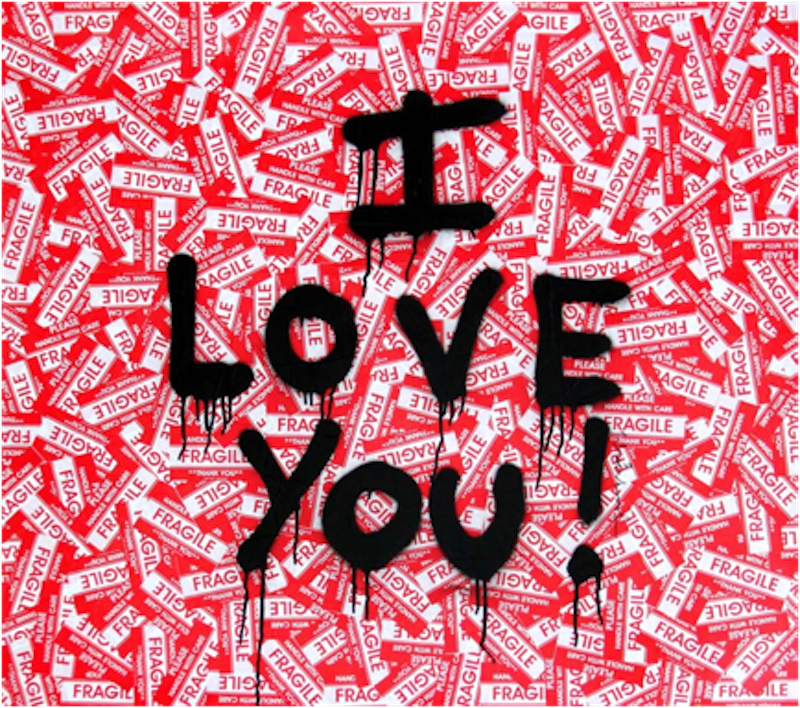 I Love You! by Mr. Brainwash