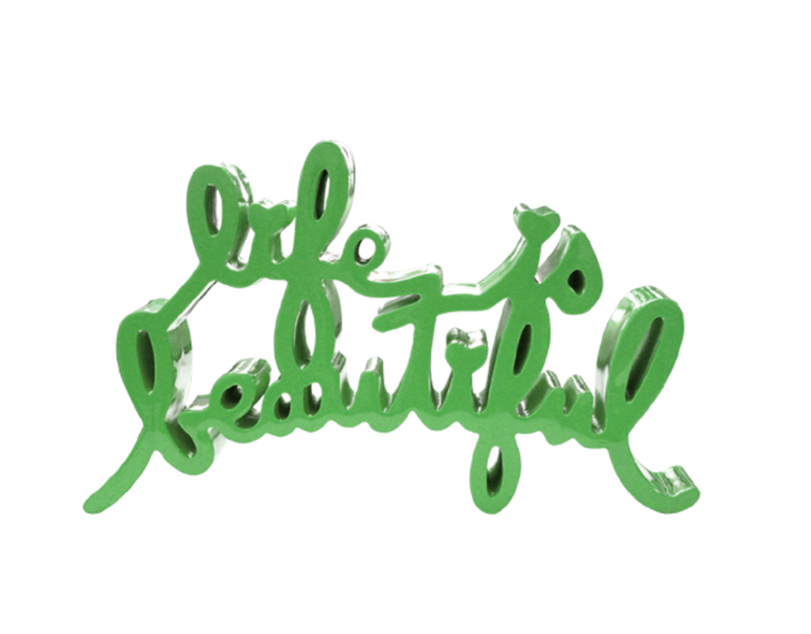 Life Is Beautiful – Green by Mr. Brainwash