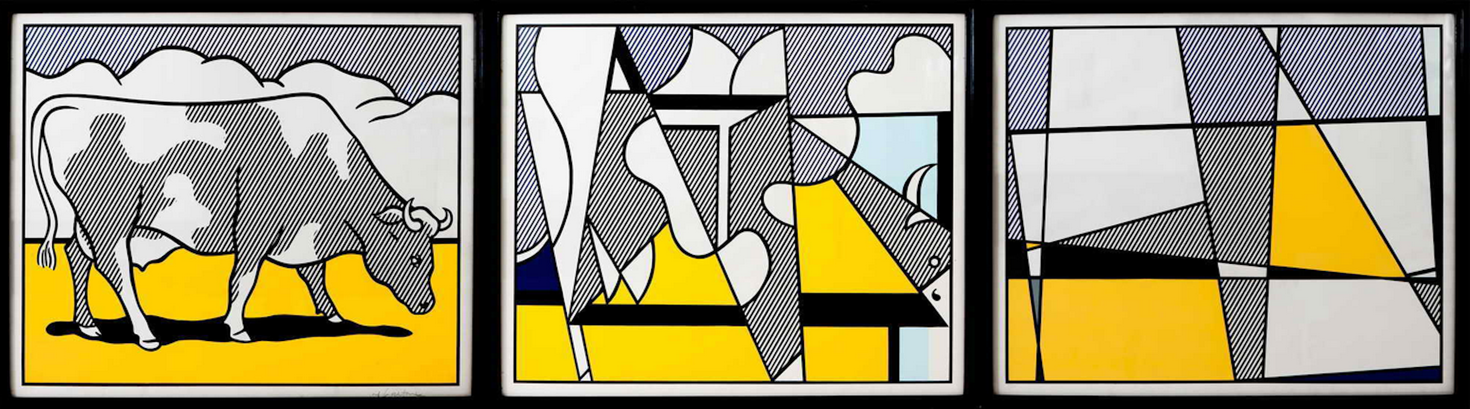 Cow Going Abstract by Roy Lichtenstein
