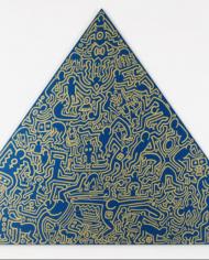 Pyramid (Blue) by Keith Haring