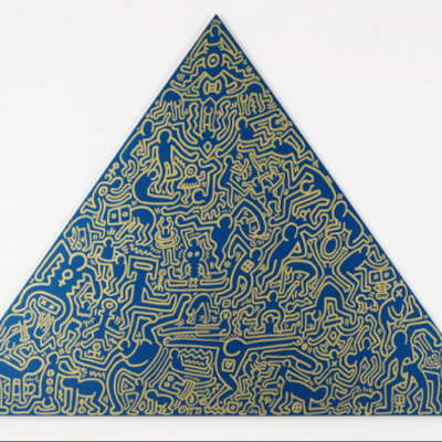 Pyramid (Blue) by Keith Haring