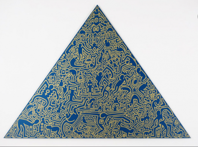 pop art, keith haring,haring pyramids