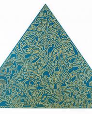 Pyramid (Green) by Keith Haring