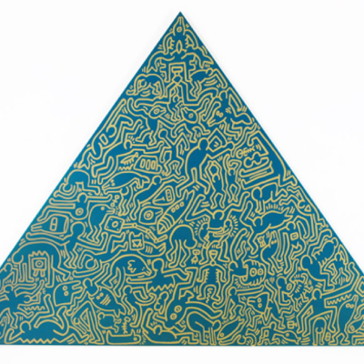 Pyramid (Green) by Keith Haring