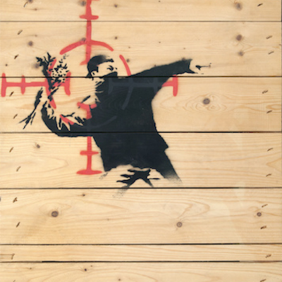 Banksy, wood, urban, graffiti