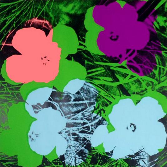 andy warhol flowers Flowers, imagen de la serie selection andy warhol, artista de categoría maestros en photo art edition lumas.