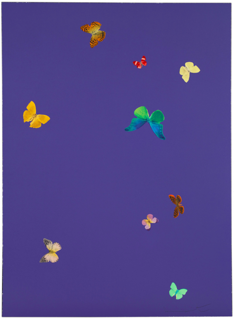 The Wonder of You Purple by Damien Hirst
