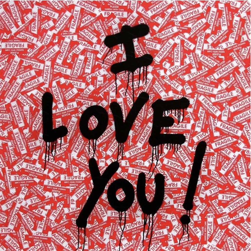 I Love You by Mr Brainwash