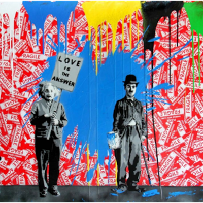 Mr brainwash art nyc gallery for Mural painted by street artist mr brainwash
