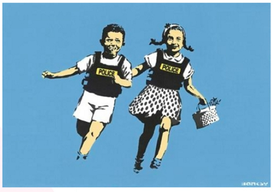 Police Kids (Jack and Jill) by Banksy