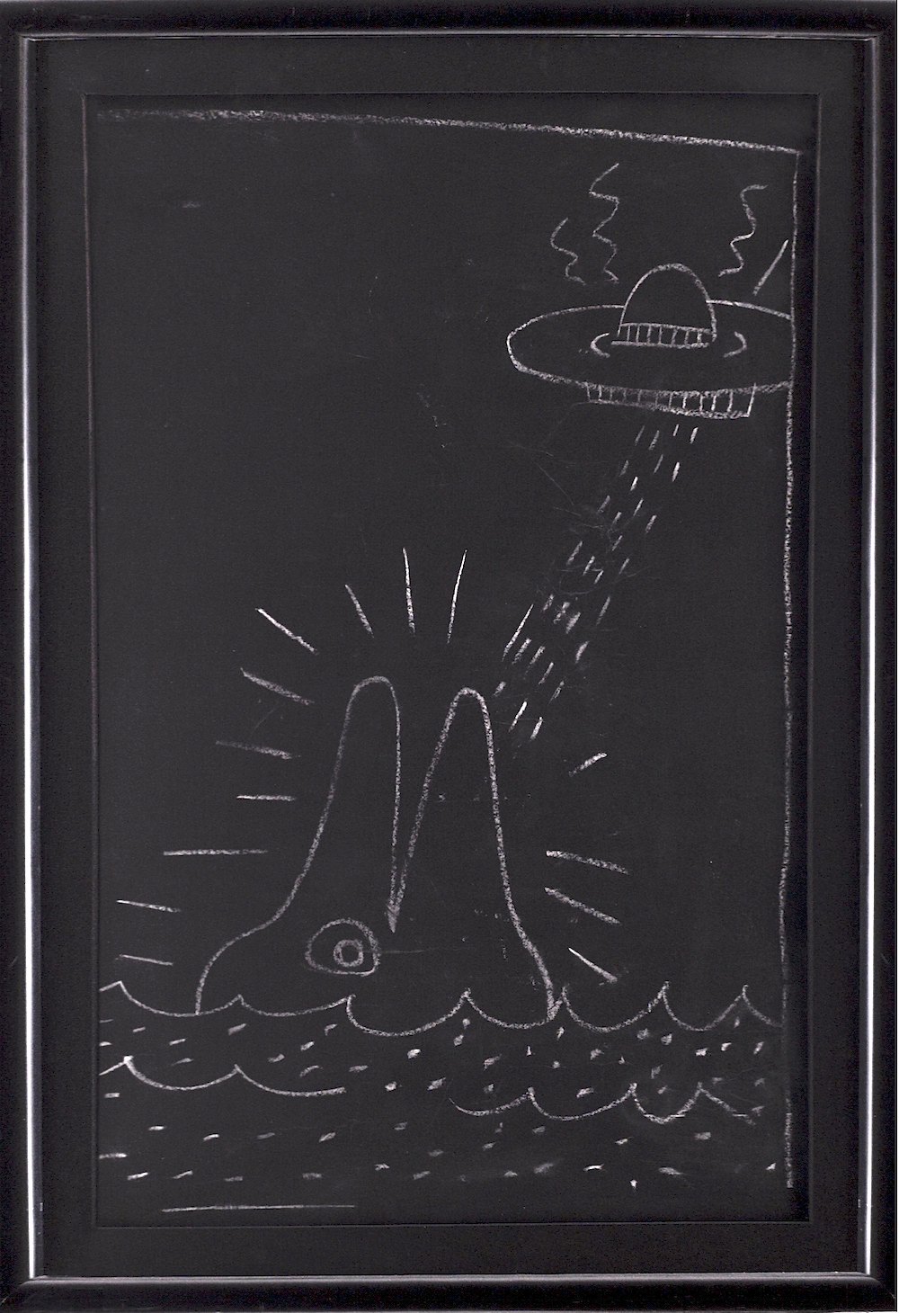 Untitled Whale & Aliens by Keith Haring