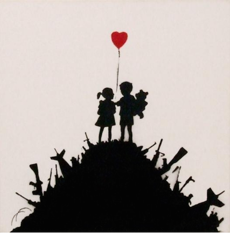 Kids On Guns by Banksy