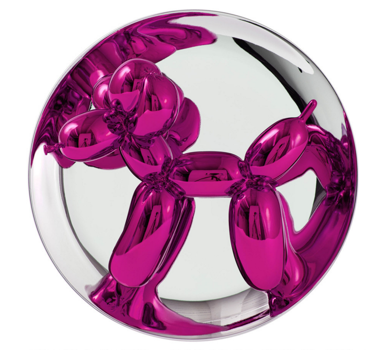 Magenta Balloon Dog by Jeff Koons