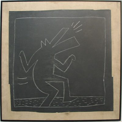 keith haring, pop art, subway drawings, graffiti