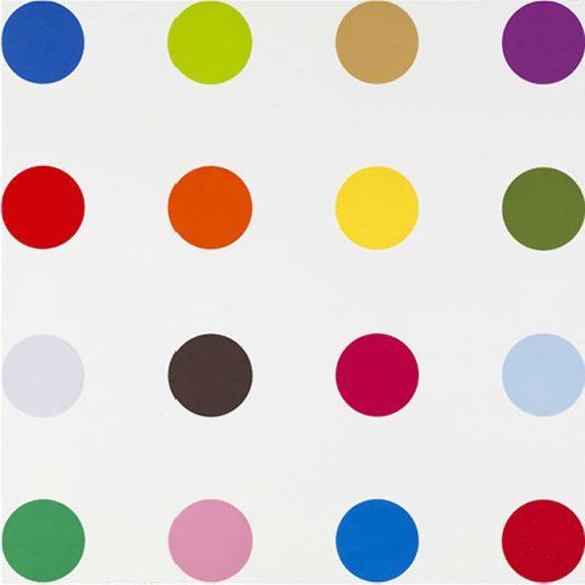 damien hirst, spot series, prints, hirst, neo, Benzyl Viologen by Damien Hirst