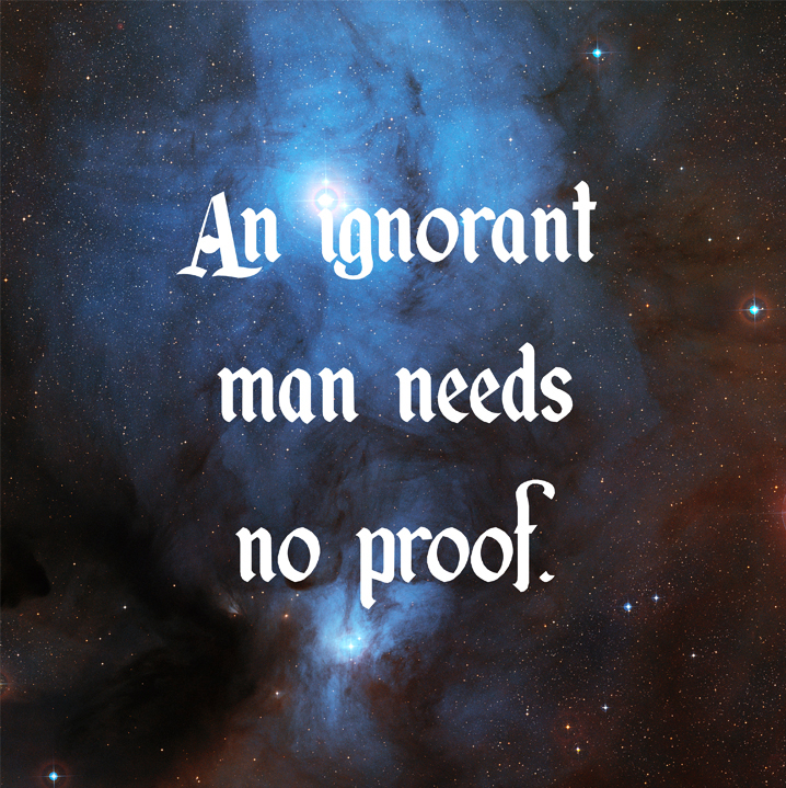 An Ignorant Man Needs no Proof by Donny Miller