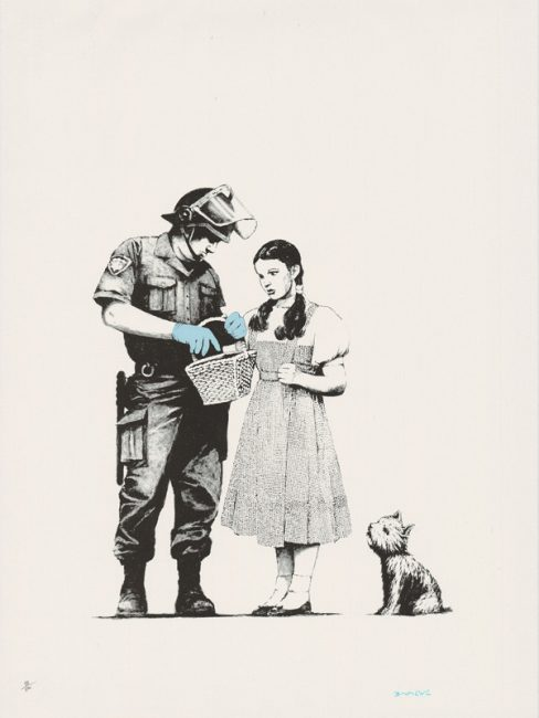 stop and search, banksy