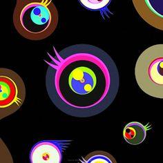 Jellyfish Eyes Black 1 by Takashi Murakami