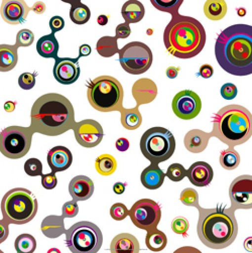 Jellyfish Eyes White 4 by Takashi Murakami