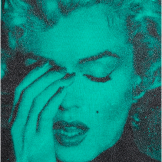 marilyn crying, bondi blue, black, russell young, urban