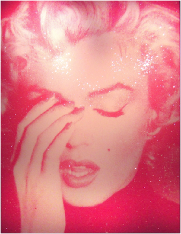 Marilyn Crying Light Pink and Dark Pink by Russell Young