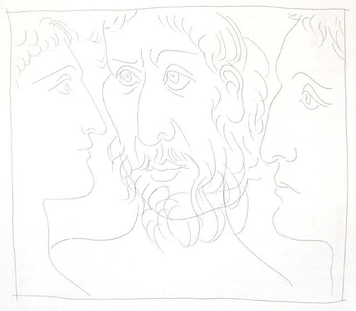 Trois Têtes d'Hommes by Picasso