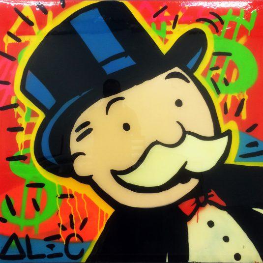 Alec Monopoly, graffiti, street, monopoly man