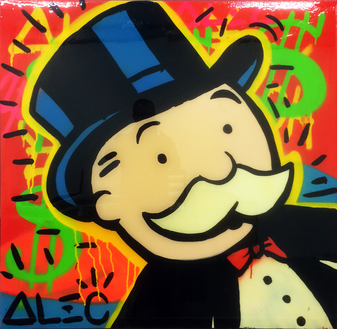 Monopoly Man Close Up by Alec Monopoly