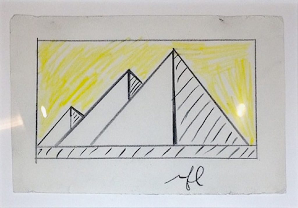 pyramid, works on paper, roy lichtenstein, pop