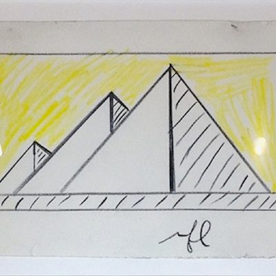 pyramid, works on paper, roy lichtenstein, pop