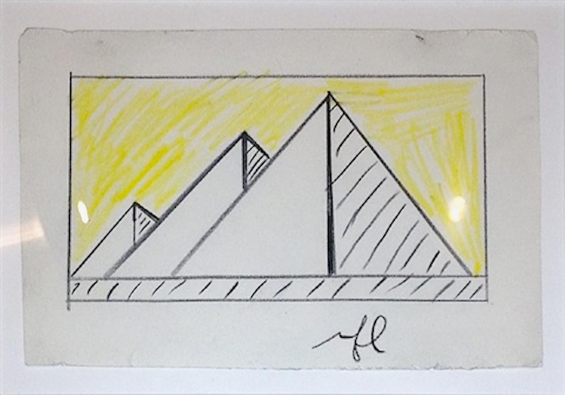 Pyramids Study by Roy Lichtenstein