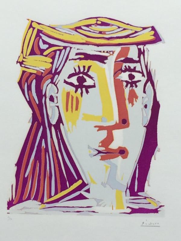 Femme au Chapeau (Portrait de Jacqueline) by Picasso - Guy Hepner