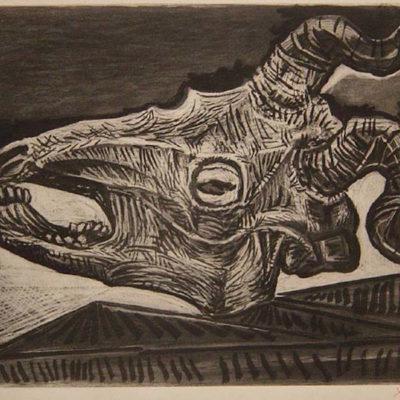 Le Crâne de Chèvre sur la Table by picasso