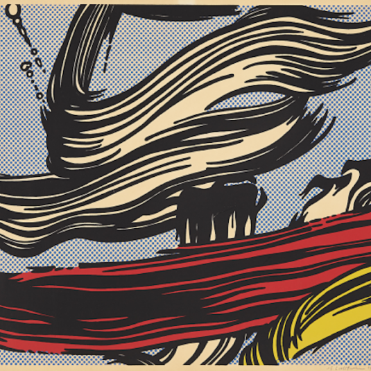 Roy Licthenstein, lichtenstein, pop, reflections, brushstroke