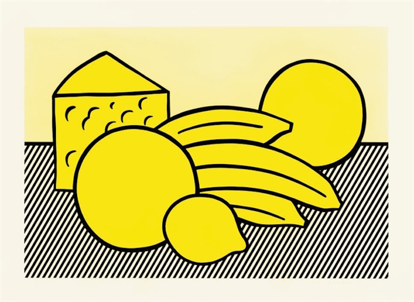 Yellow Still Life by Roy Lichtenstein