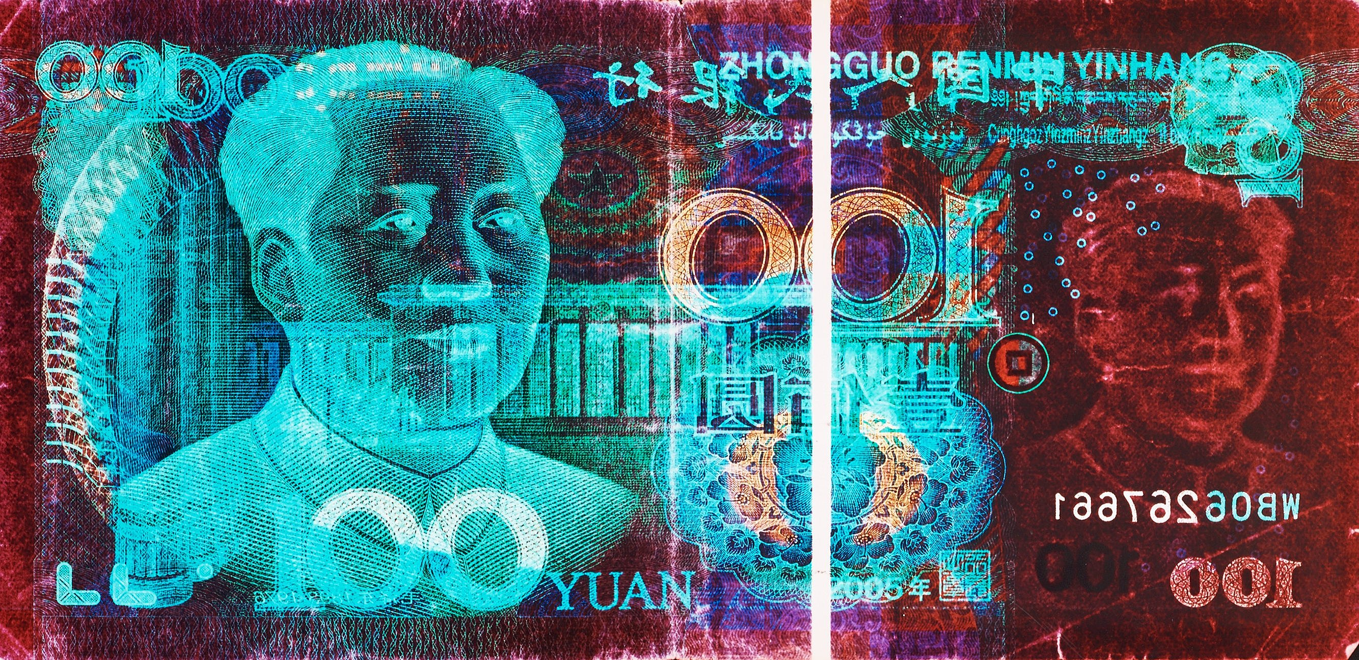 100 Chinese Yuan by David LaChapelle