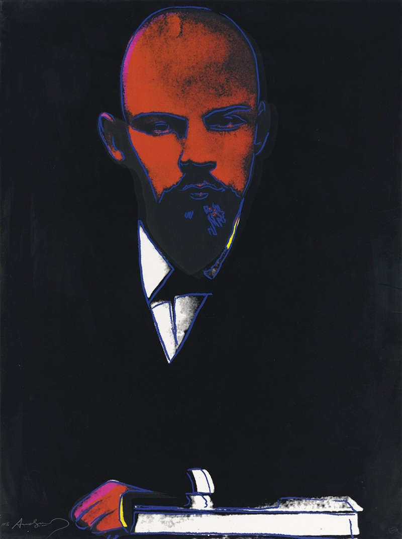 Black Lenin 402 by Andy Warhol